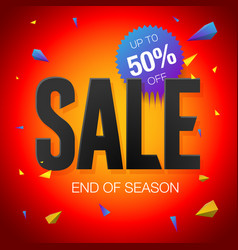 Final sale poster or flyer design end of season vector