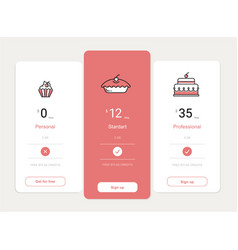 Price table template design vector