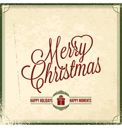 Holiday merry christmas new year vector