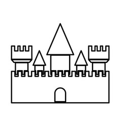 Castle black color icon vector