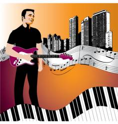 Music background start man vector