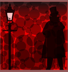 Jack the ripper background vector