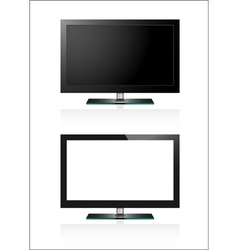 Two tv flat screen lcd vector
