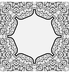 Ornamental frame border in indian mandala style vector