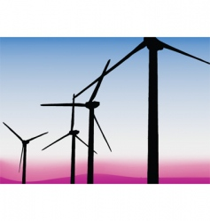 Wind power sails vector
