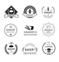 Set of bakery logos labels badges and design vector image