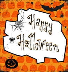 Happy halloween card design template with pumpkin vector
