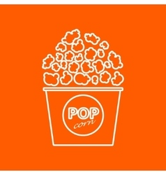 Popcorn icon eps10 vector