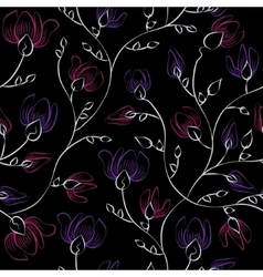 Floral print seamless background vector image