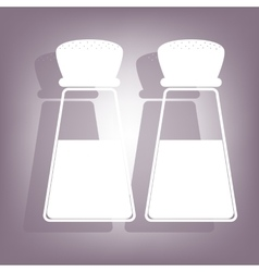 Salt and pepper icon with shadow vector