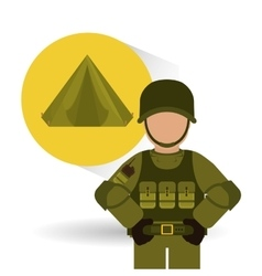 Military tent design vector