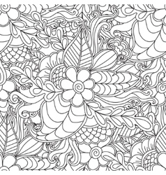 Pages for adult coloring book Hand drawn artistic vector image