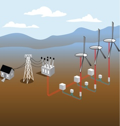 Wind Mill Diagram vector image