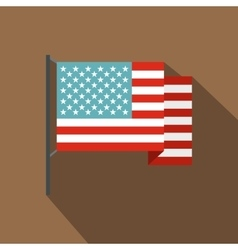 American flag icon flat style vector