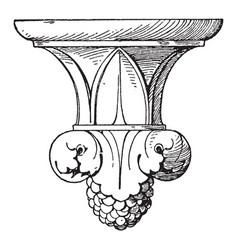 Bracket piscina pendant knob metal vintage vector