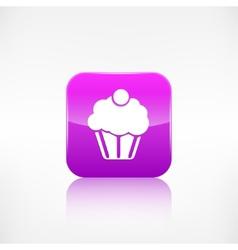 Cake web icon application button vector