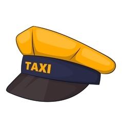 Cap taxi driver icon cartoon style vector