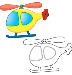 Cartoons helicopter vector image