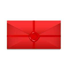 closed envelope sealing wax st valentines day vector image