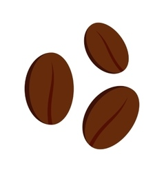 Coffee beans icon flat style vector image vector image