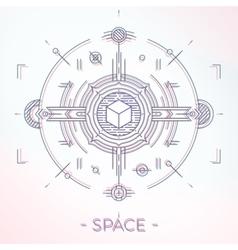 Colorful line geometric futuristic graphic design vector image