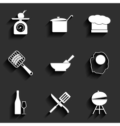 Cooking icons vector image vector image
