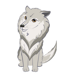 Cute wolf portrait vector