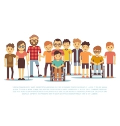 Disabled child handicapped children diverse vector image vector image