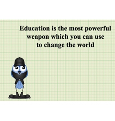 Education change the world vector