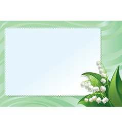 Frame with spring lilies vector image