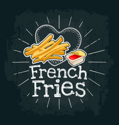 french fry stick potato flat vector image vector image