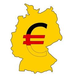 German currency vector