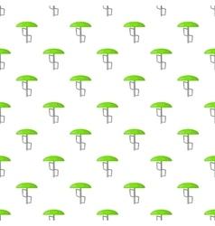 Green playground umbrella pattern cartoon style vector