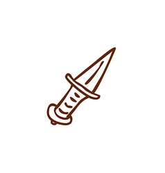 Hand drawn dagger vector