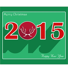 Happy new year 2015 creative greeting card vector image vector image