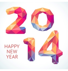 Happy New Year colorful greeting card made in vector image vector image