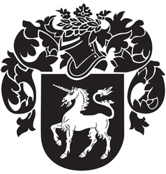 Heraldic silhouette no37 vector