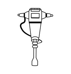 Jackhammer heavy machinery icon image vector