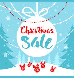 mega sale winter card vector image vector image