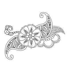 Mendie floral tattoo design isolated vector