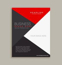Modern minimal brochure design template vector