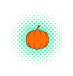 Pumpkin icon pop-art style vector image vector image