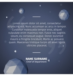 quotes with triangles spheres vector image