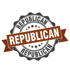 Republican stamp sign seal vector