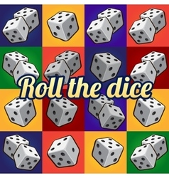 Roll the dice big set on a different background vector image