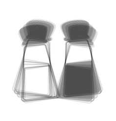 Salt and pepper sign gray icon shaked at vector