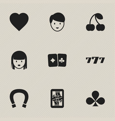 Set of 9 editable game icons includes symbols vector