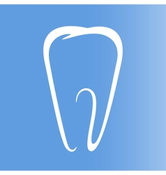 Sign of tooth vector image