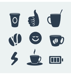 Symbols of coffee and energy vector image