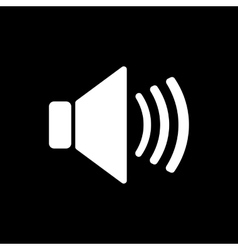 The speaker icon Sound symbol Flat vector image vector image